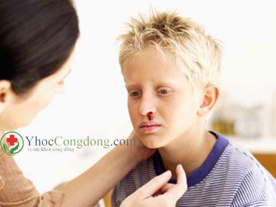 Chảy máu mũi ở trẻ