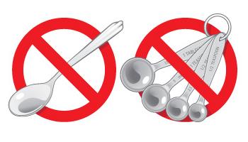 Không dùng muỗng gia đình đo thuốc dạng lỏng