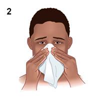 Hỉ mũi trước khi sử dụng bình xịt mũi