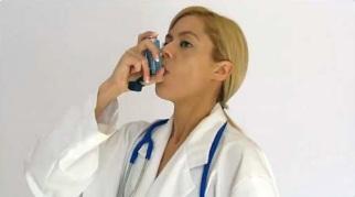 Ngậm ống hít bình định liều MDI