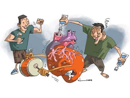 Rượu ảnh hưởng đến cơ tim