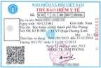 Mặt trước thẻ BHYT do BHYT Việt Nam ban hành theo Quyết định số 1055/QĐ-BHXH ngày 02/10/2013.
