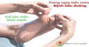phòng ngừa biến chứng bệnh tiểu đường: giữ bàn chân khỏe mạnh