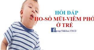 Trẻ ho, sổ mũi, viêm phổi