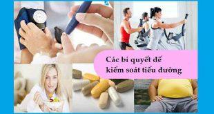 Các bí quyết để kiểm soát tiểu đường