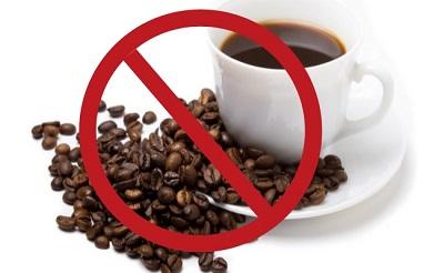 Tránh uống cà phê