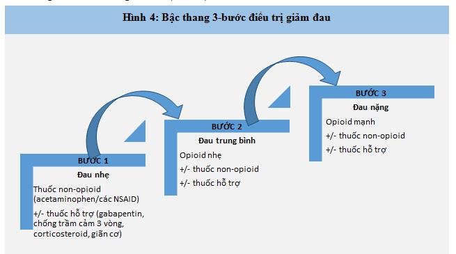 Bậc thang 3 bước điều trị giảm đau