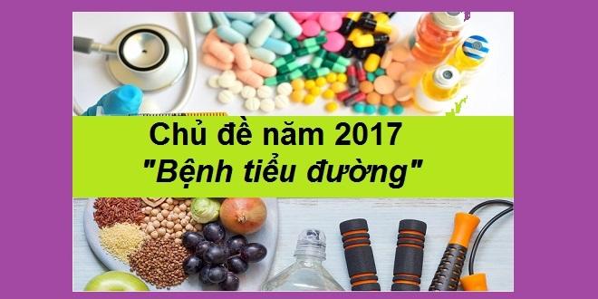 Chủ đề bệnh tiểu đường năm 2017