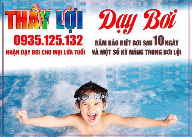 Lớp học bơi ở Huế