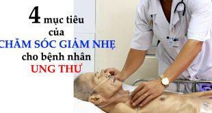 Mục tiêu của chăm sóc giảm nhẹ cho bệnh nhân ung thư