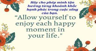 Tận hưởng hạnh phúc